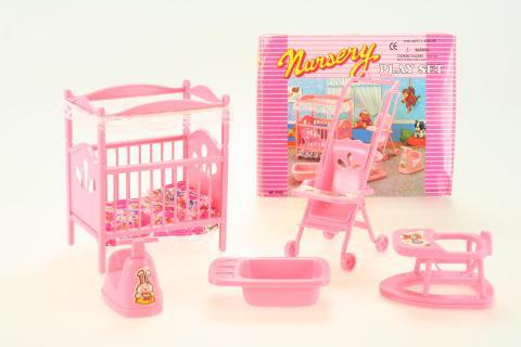 Glorie Dětský pokojík - s kočárkem pro panenky