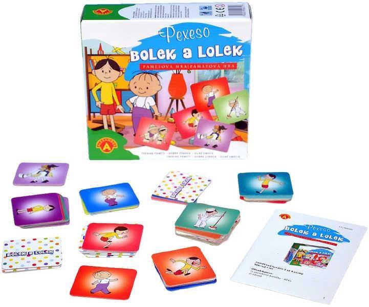 Pexeso Bolek a Lolek společenská hra 40ks v krabičce