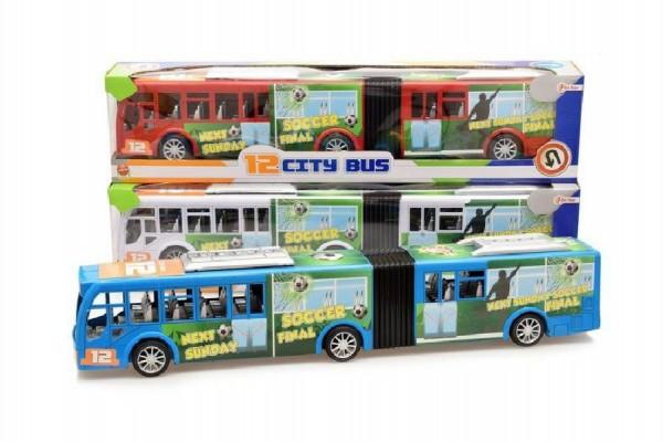 "Autobus ""harmonika"" plast 54cm na setrvačník"