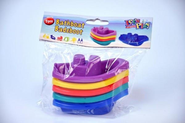 Lodičky do vany 5ks plast 10cm v sáčku
