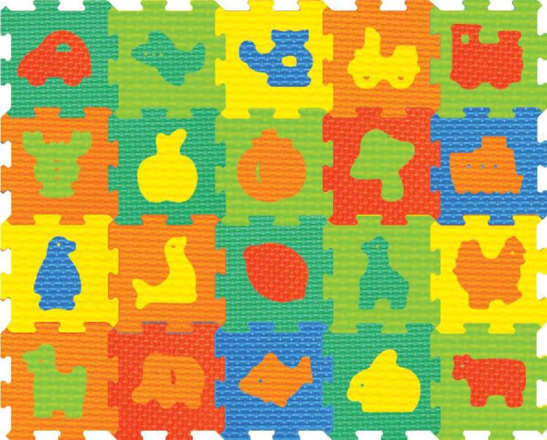 c0569d00f Pěnové puzzle - koberec mix 10 dílků | Nejbaby.cz