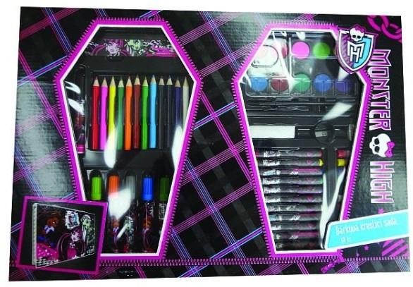 Karton P+P Kufřík set - kreslící dárkový set 68ks Monster High