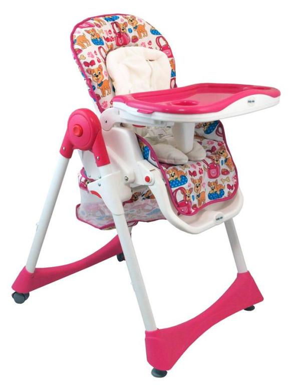 Jídelní židlička Baby mix růžová