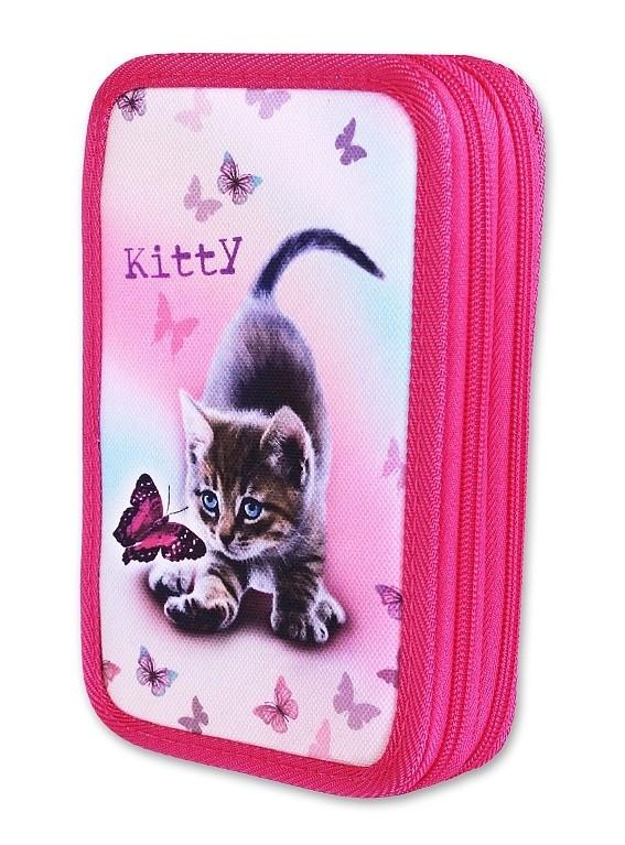 Školní penál 2-patra plněný Kitty Emipo