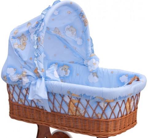 Boudička k proutěnému košíku - Scarlett Mráček - modrá