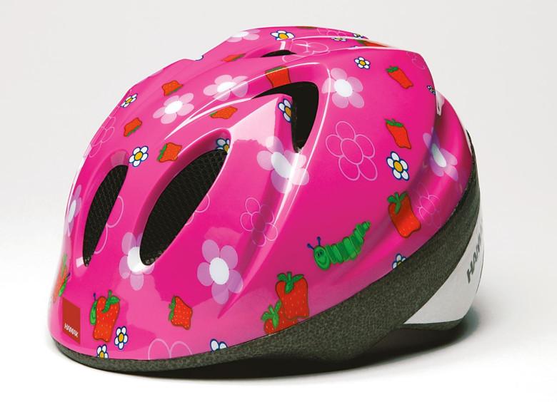 Cyklistická helma HAMAX KID PINK FLORA vel.52-56