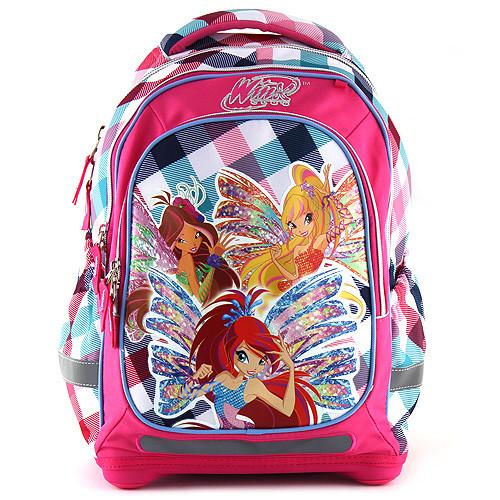 3524d58a546 Školní batoh Winx Club Barevné kostky