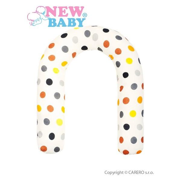 Univerzální kojící polštář New Baby žlutý puntíky
