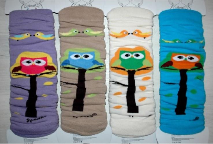 Design Socks Dětské návleky na nožičky sovy
