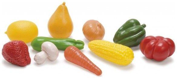 Plastová zelenina a ovoce v síťce 10 ks nezobra