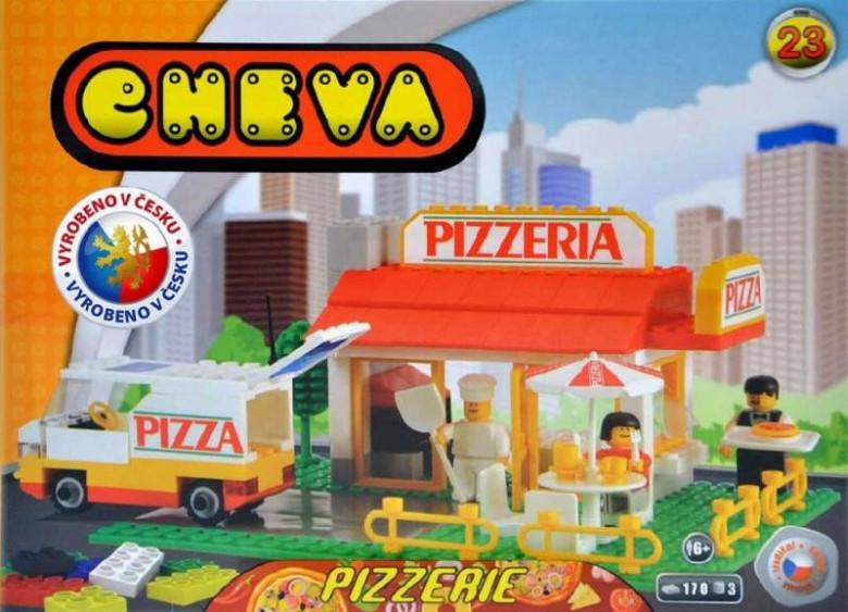 Stavebnice Cheva 23 Pizzerie plast 173ks v krabici nezobra