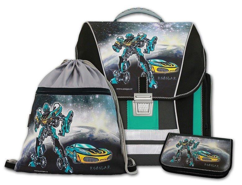 Školní batohový set Robocar 3-dílný