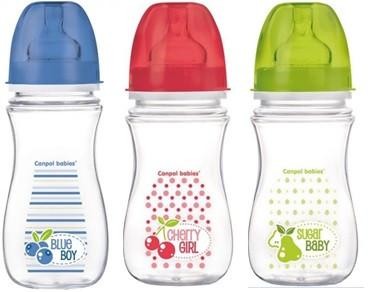 Canpol babies láhev se širokým hrdlem EasyStart Fruits 240 ml
