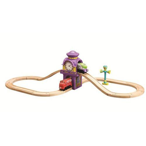 Chuggington - Set s Wilsonem, Koko a Vee- dřevěné mašinky