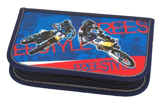 Školní pouzdro 2-klopy 01 Elegant plné Freestyle Emipo