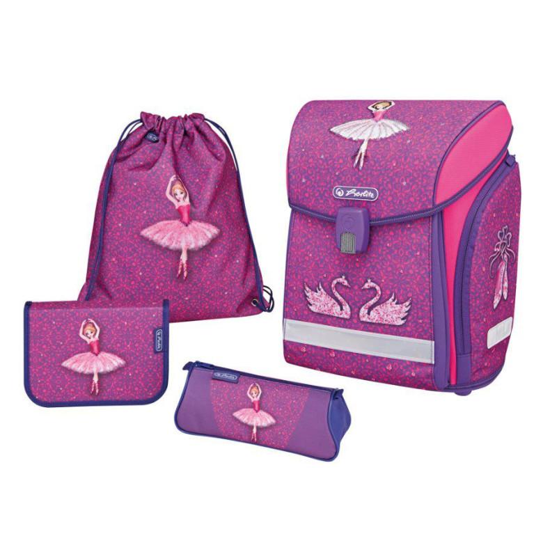 Školní batoh Herlitz Midi kůň růžový vybavený SET