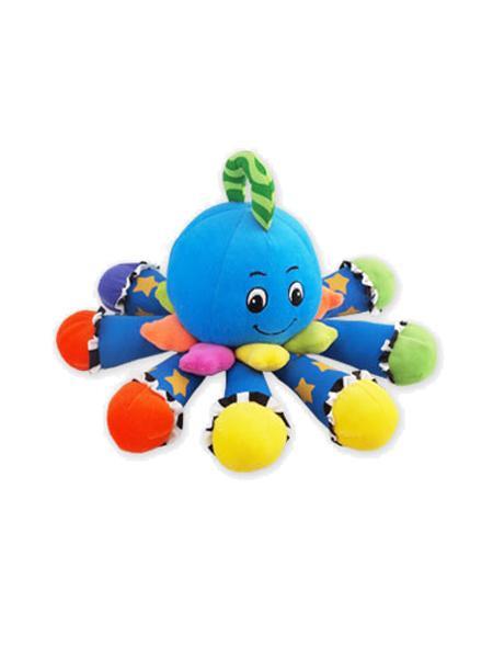 Plyšová hračka se zvukem Baby Mix Chobotnička modrá