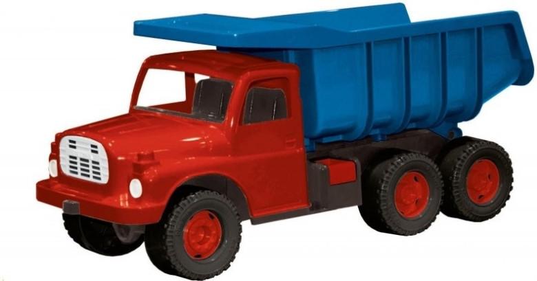 Auto Tatra 148 plast 73cm v krabici červená kabina modrá korba