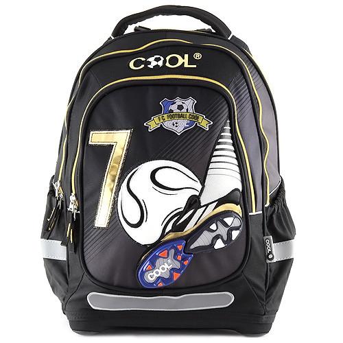 Školní batoh Goal - Černý - zlaté zipy II.  8205359eb5