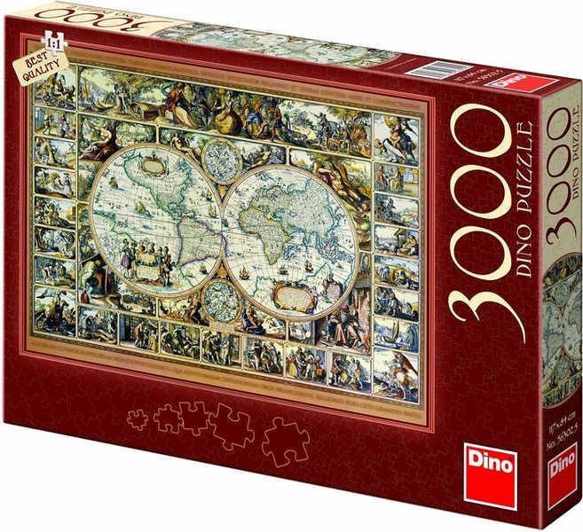 Puzzle Mapa 117x84cm 3000 dílků