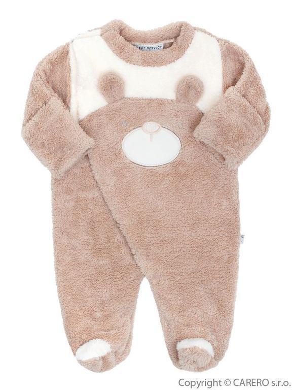 Baby Service Zimní kojenecká kombinéza Baby Service Veselý medvídek béžová