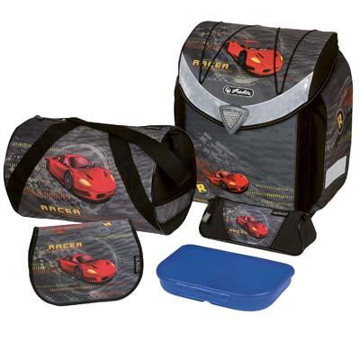 Školní taška set Herlitz Flexi Auto červený