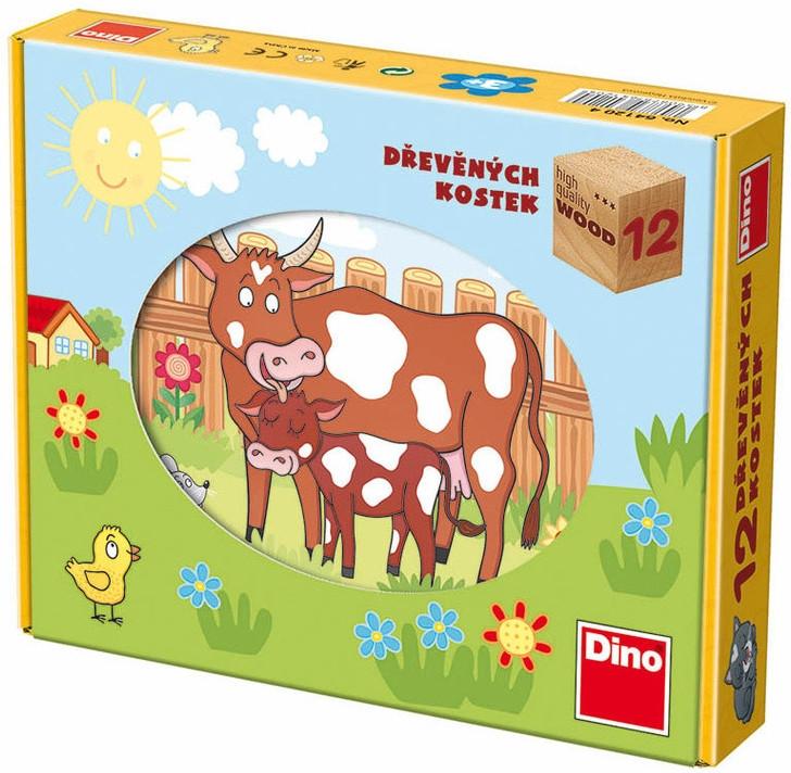 Kostky kubus Domácí zvířátka Dino