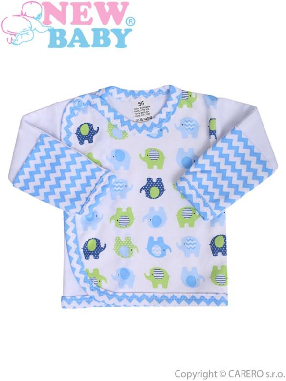 Kojenecká košilka New Baby Sloník bílo-modrá vel. 56 nezobra