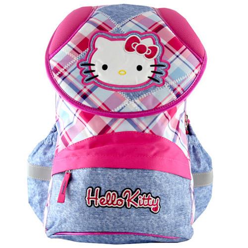 Školní batoh Hello Kitty - Růžový s modrým jeans  09fbb777af