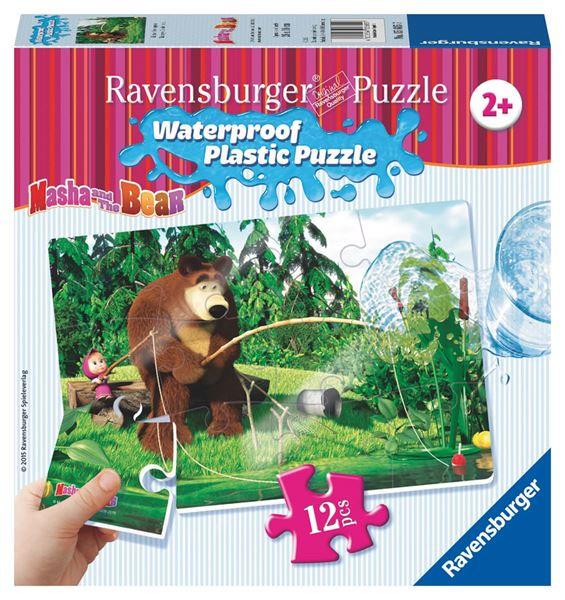 Puzzle Máša a Medvěd 12 plast. dílků II - NA RYBÁCH