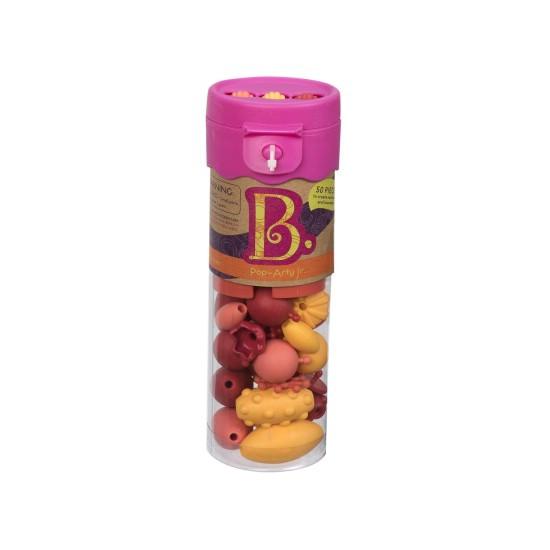 B.toys Spojovací korále a tvary Pop Arty 50 ks červené/oranžové