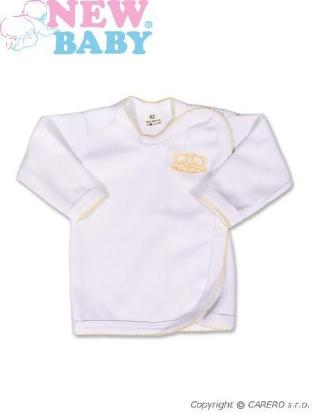 Kojenecká košilka New Baby Classic v žlutým lemem a výšivkou vel. 56 dost.od 3.11.nezobra