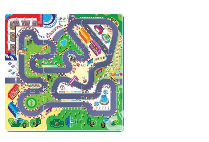 Pěnové puzzle Závodní dráha 32x32cm 9ks