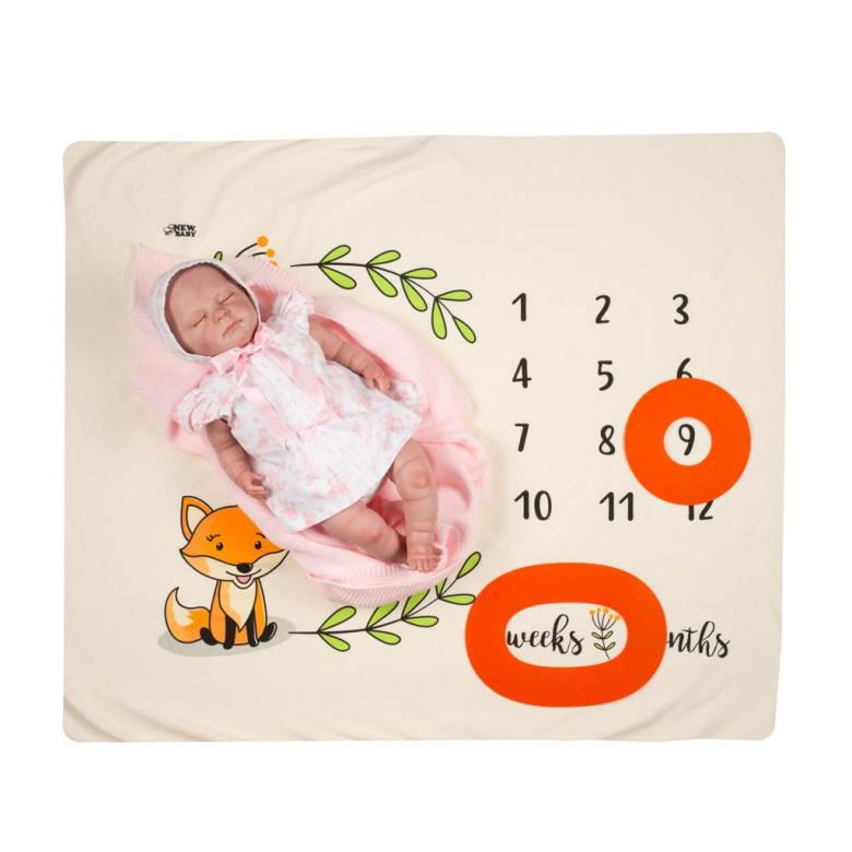 Milníková deka New Baby smetanová