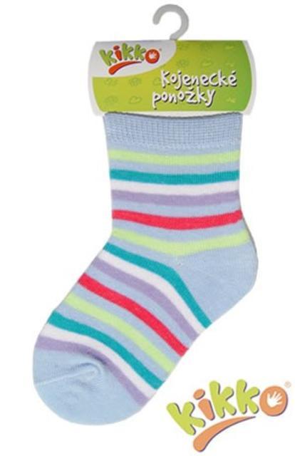 Kojenecké ponožky bavlna KIKKO 12 - 18 m Proužkované - typ 55