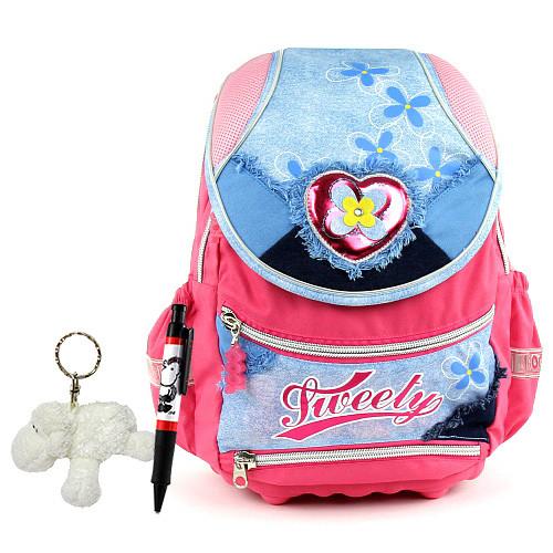 8561ec67f26 Školní batoh Cool set - 3-dílná sada - batoh Cool srdce Tweety + láhev a  pláštěnka