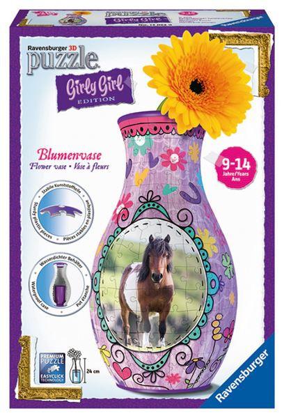 Puzzle váza Kůň 3D 216 dílků