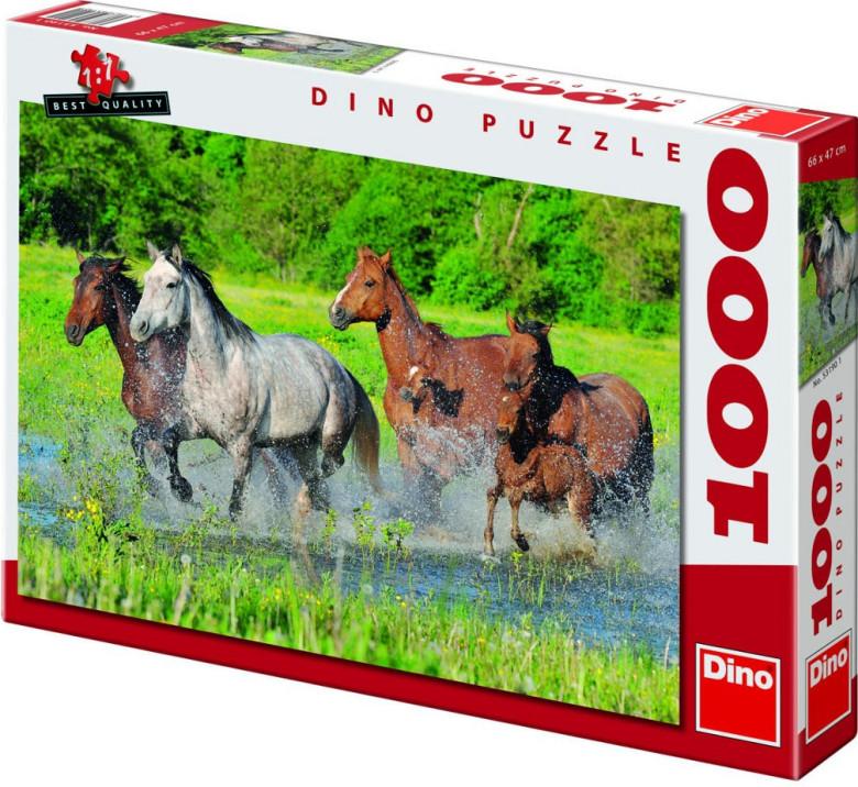 Puzzle Stádo koní 66x47cm 1000 dílků