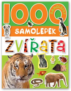 1000 samolepek zvířata nezobra