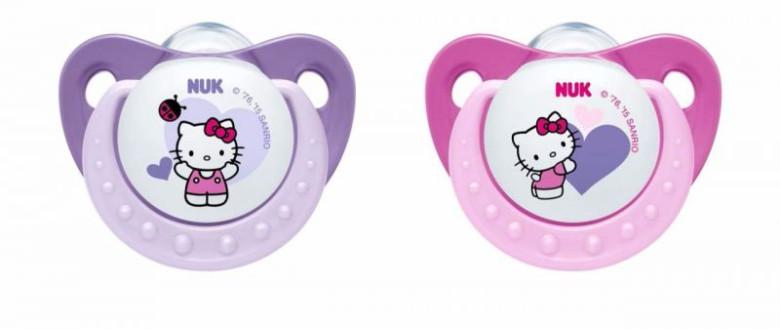 Šidítko uklidňující silikonové Trendline Hello Kitty 0 - 6 m