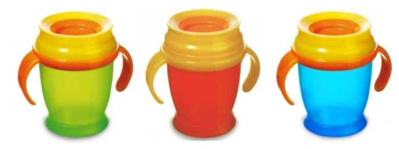 Nevylévací hrníček LOVI 360° MINI 210ml s úchyty bez BPA