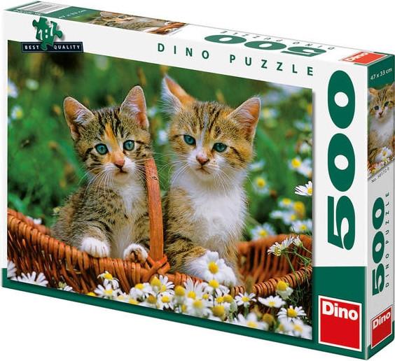 Puzzle Dvě koťátka 47x33cm 500 dílků