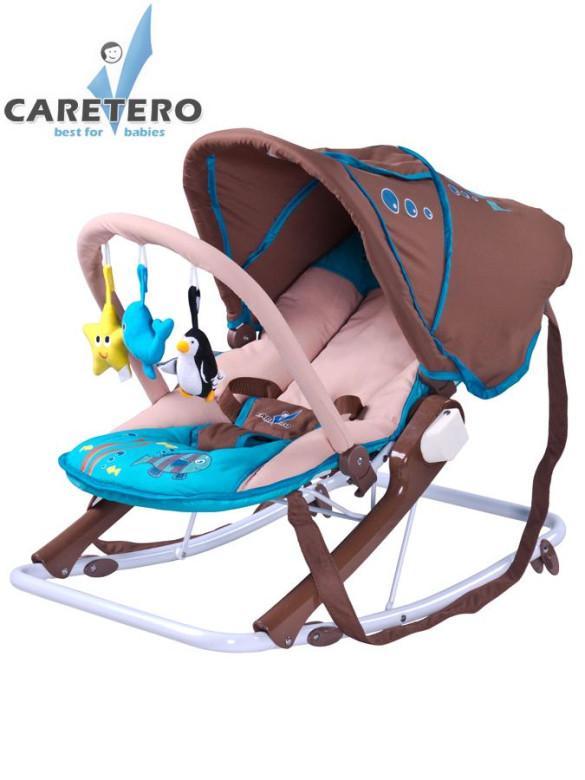 Dětské lehátko CARETERO Aqua brown nezobra