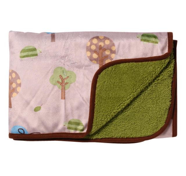 Oboustranná deka mikrovlákno 74x100 Sova BabyOno