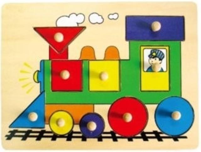 Dřevěná vkládačka lokomotiva 18 m+