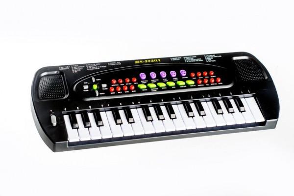 Piánko plast 32 kláves 40cm na baterie