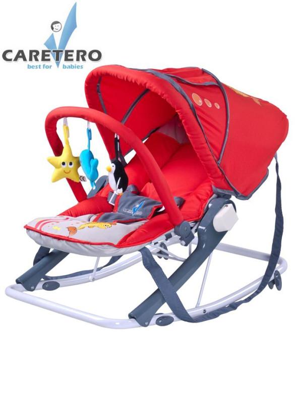 Dětské lehátko CARETERO Aqua red nezobra