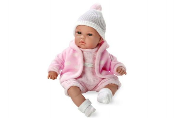 Panenka/miminko růžové plačící 33cm vonící měkké tělo na baterie
