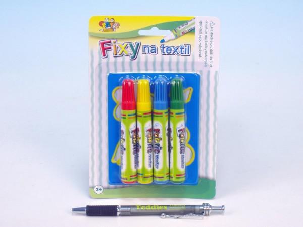 Fixy na textil 4ks + šablona