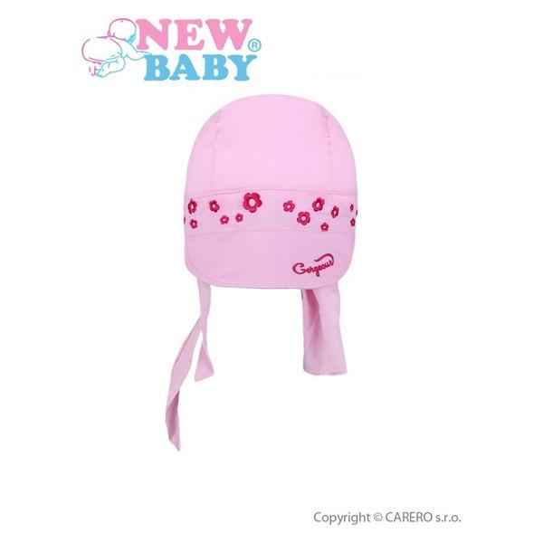 Letní dětská čepička- šátek New Baby Gorgeous vel. 86 SVĚTLE RŮŽOVÁ